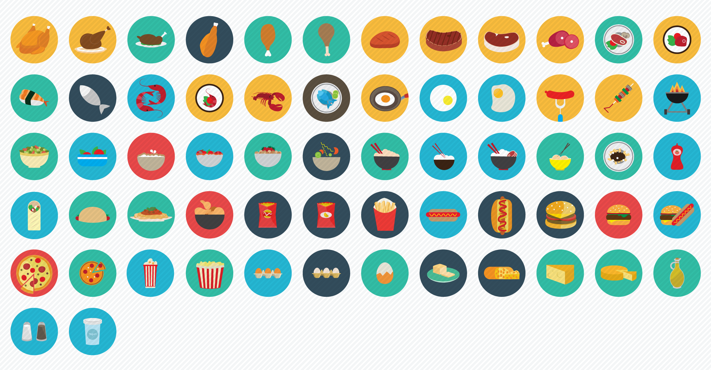 Food_Meals flat icons