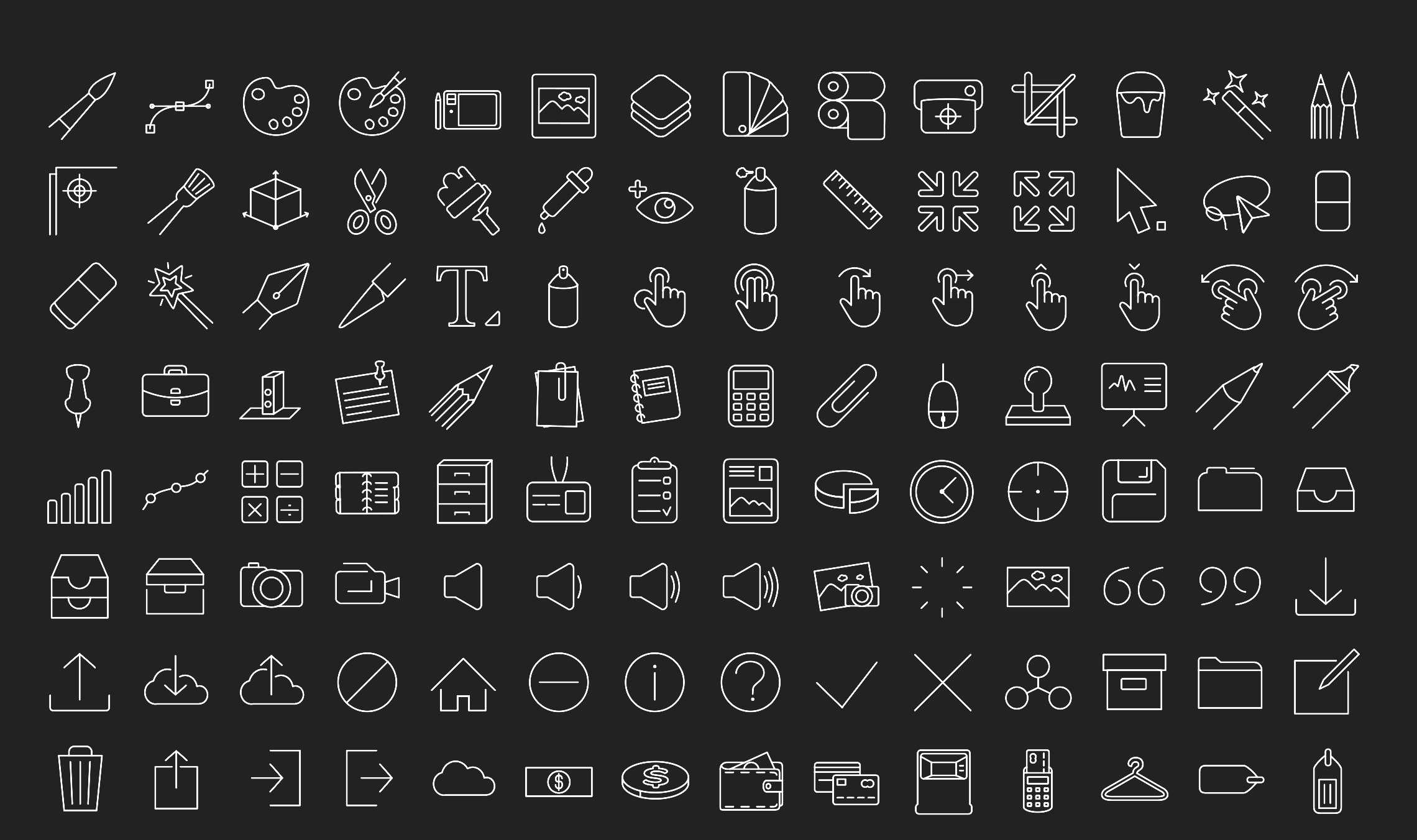 IOS 8 Vector line icons