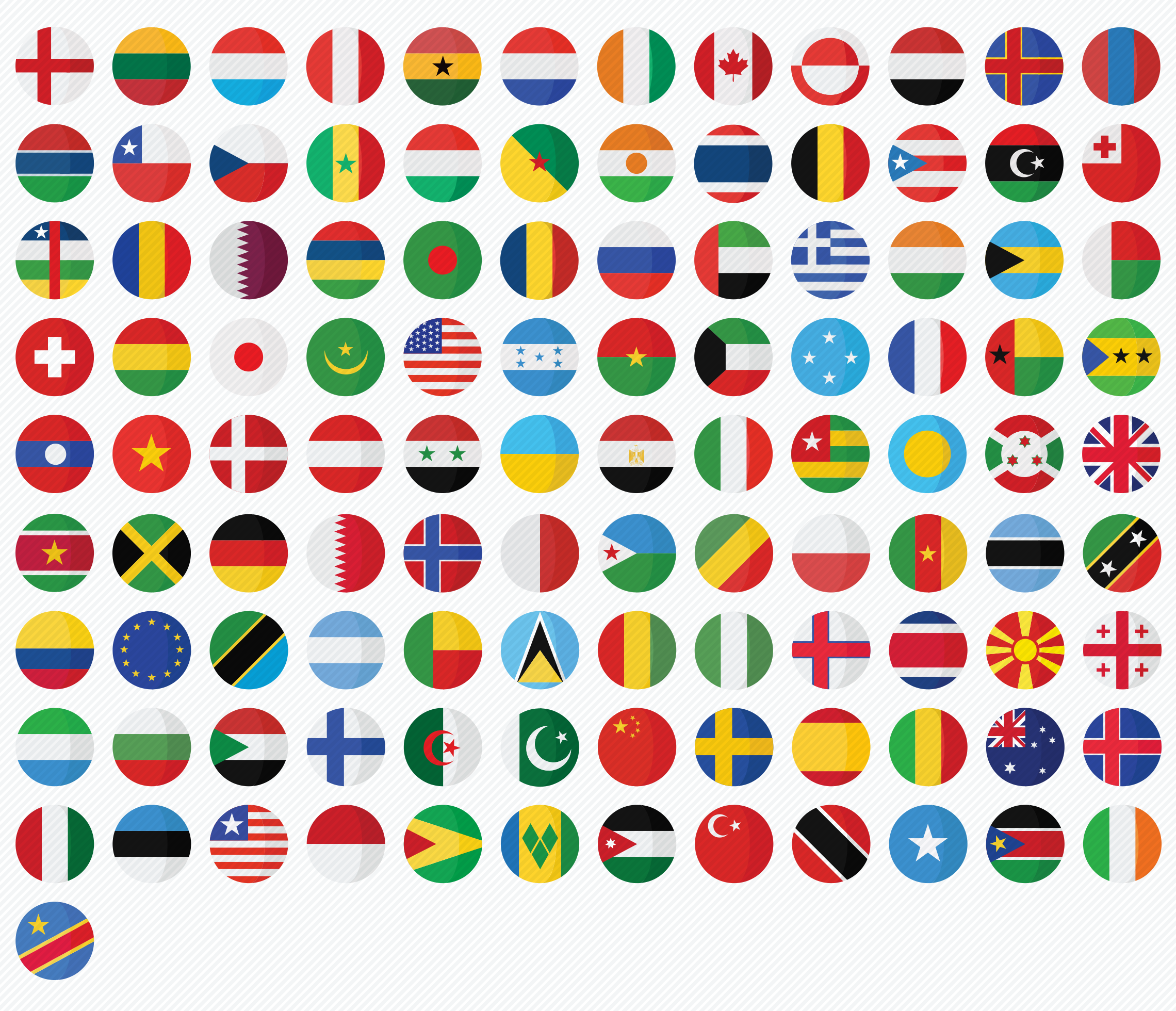 country-flags-flat-icons-set
