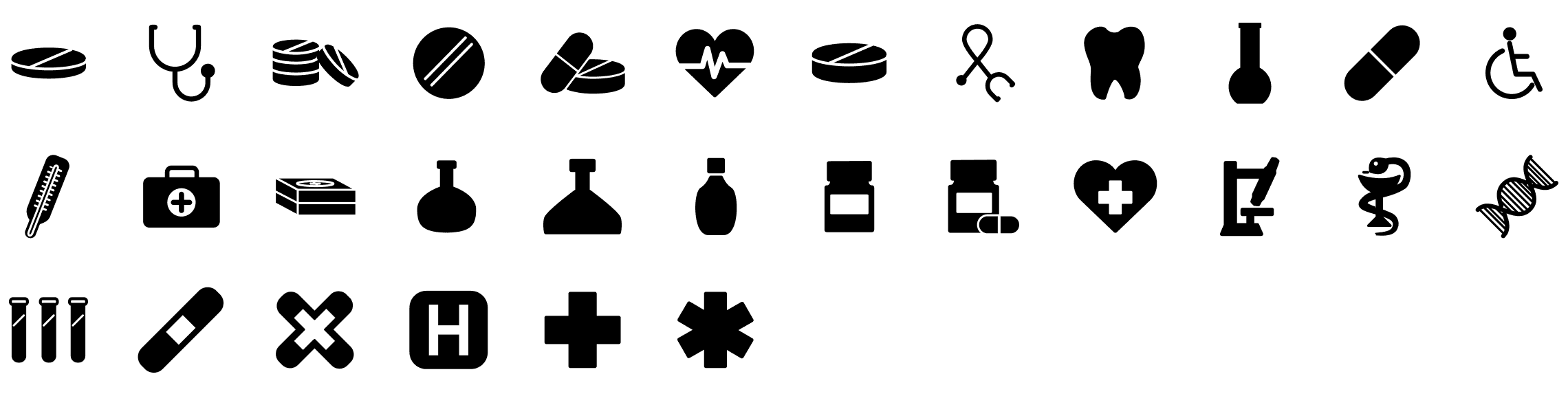medical-glyph-icons-preview