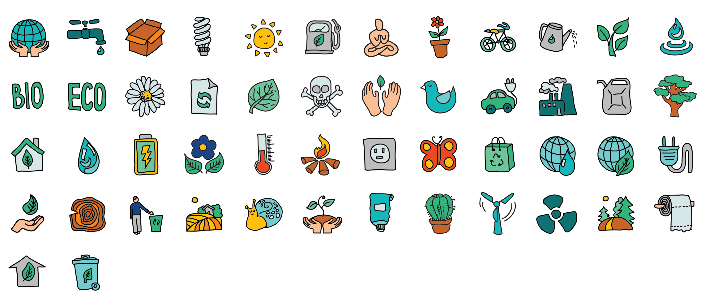 Eco-doodle-icons