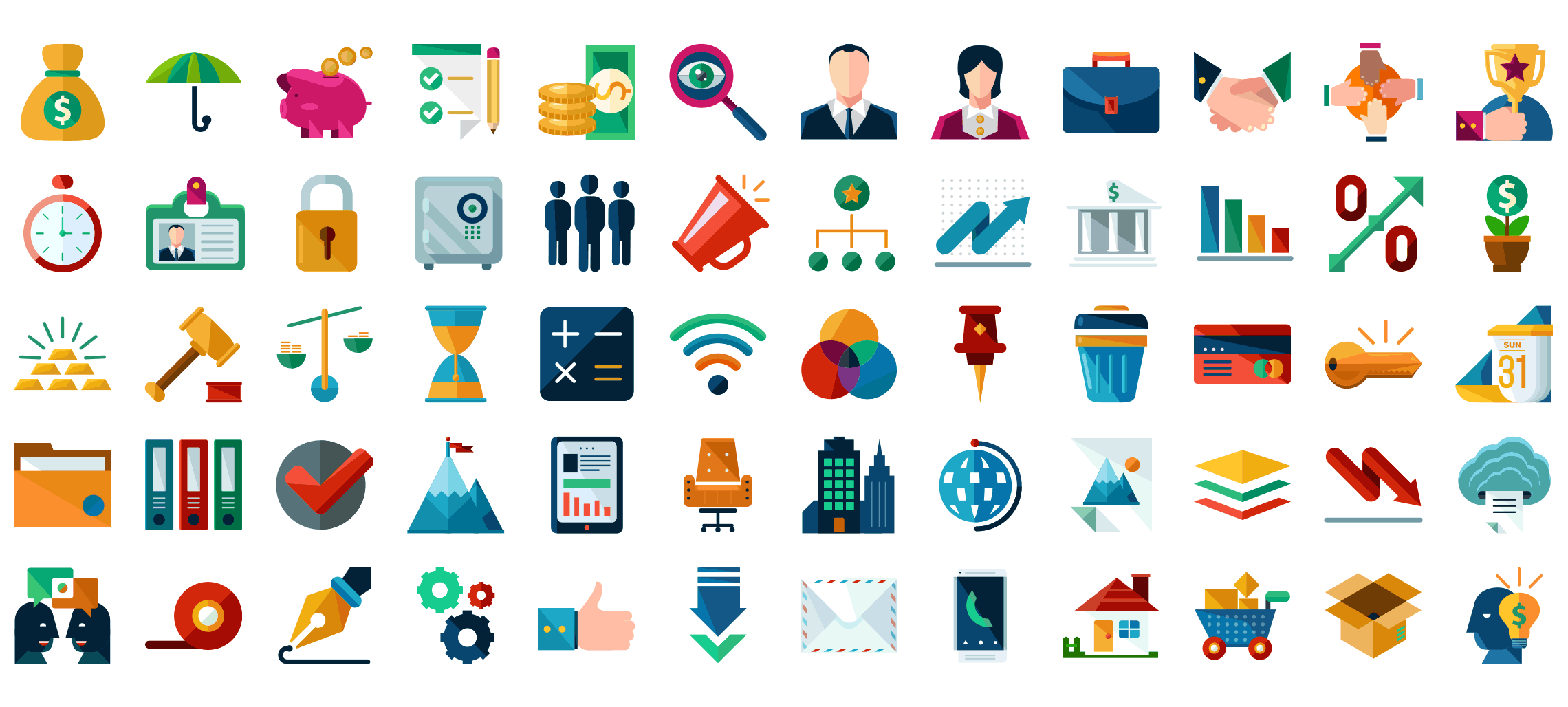 Business-flat-icons