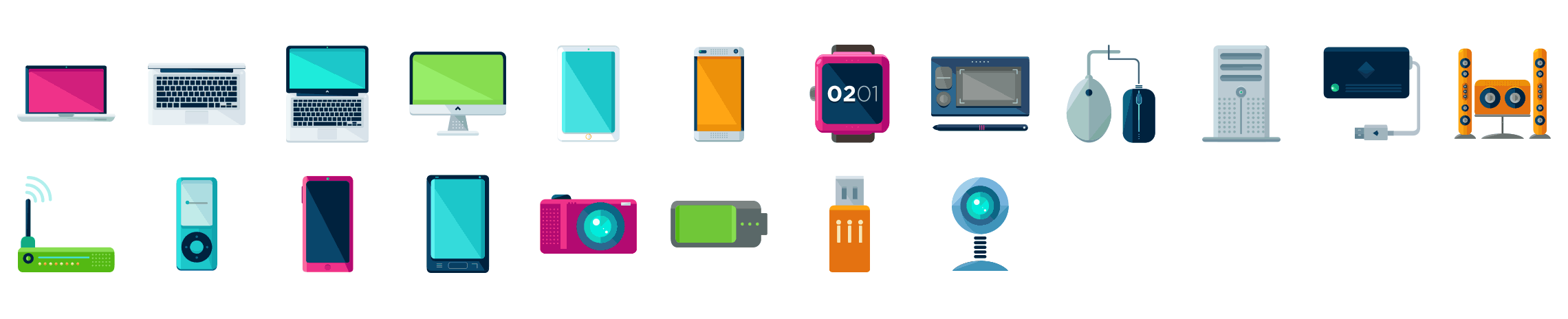 Devices-flat-icons