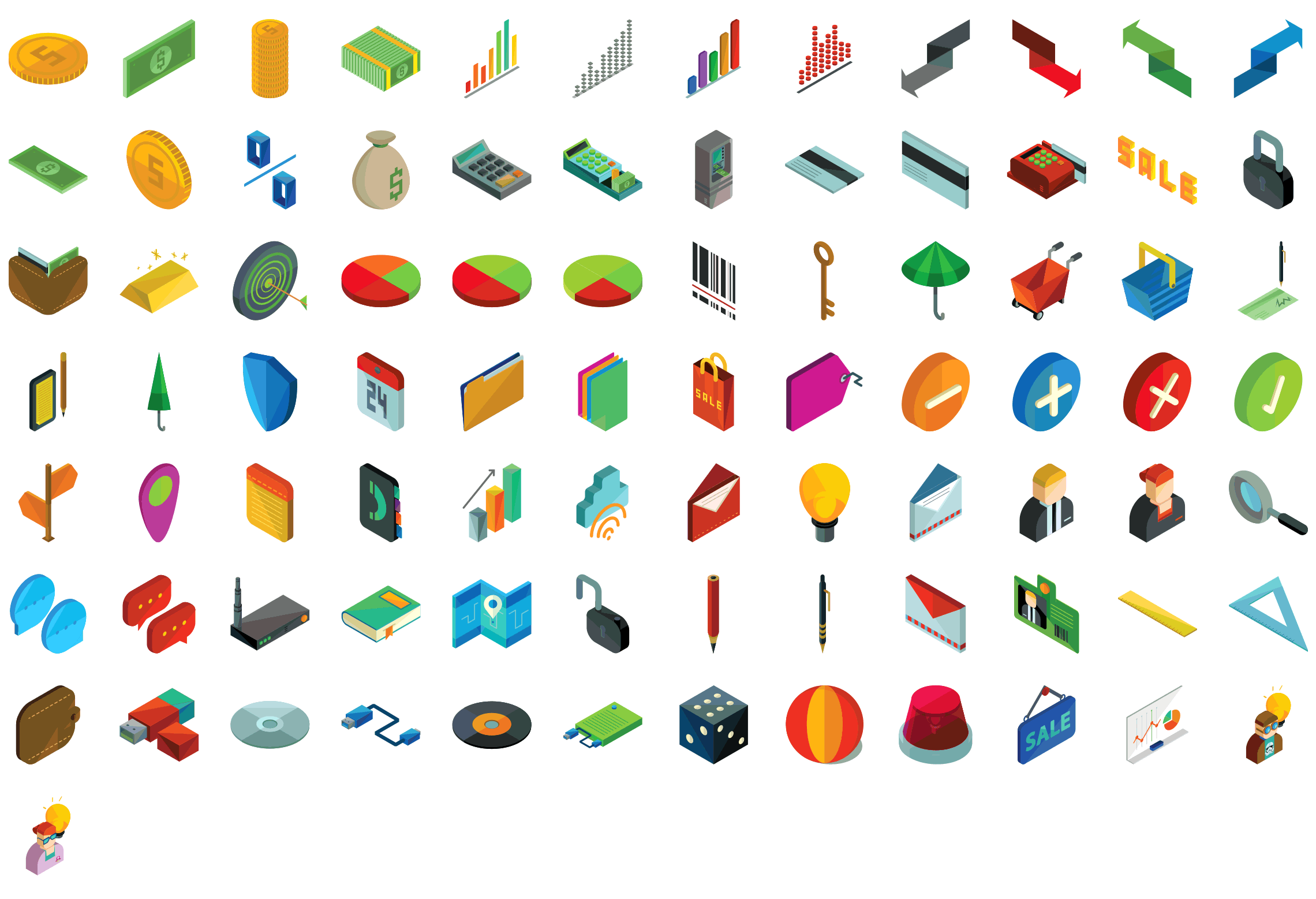 business-and-finance-isometric-icons-preview