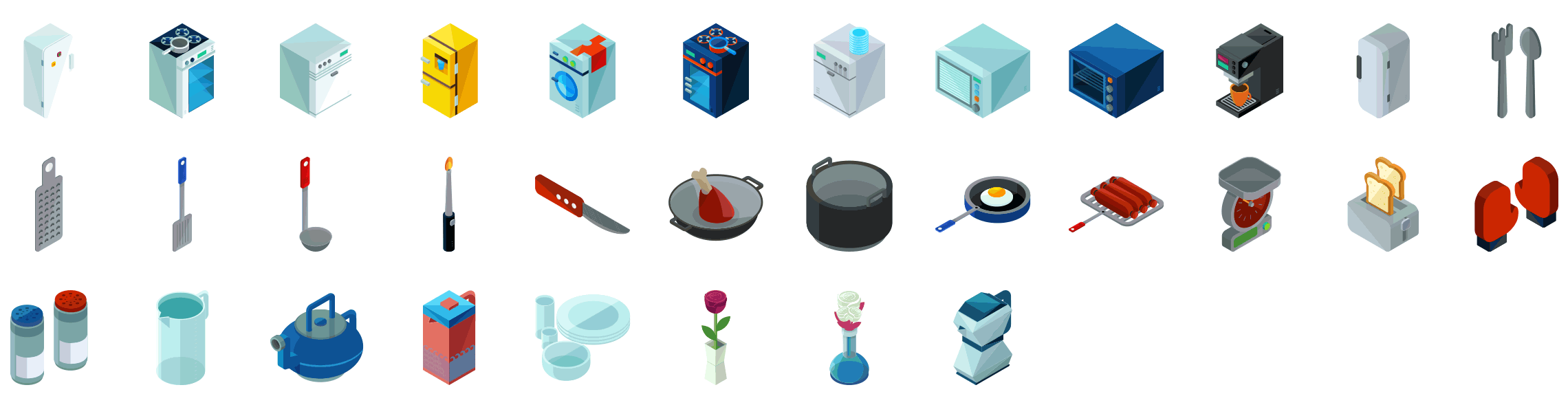 kitchen-appliances-isometric-icons-preview