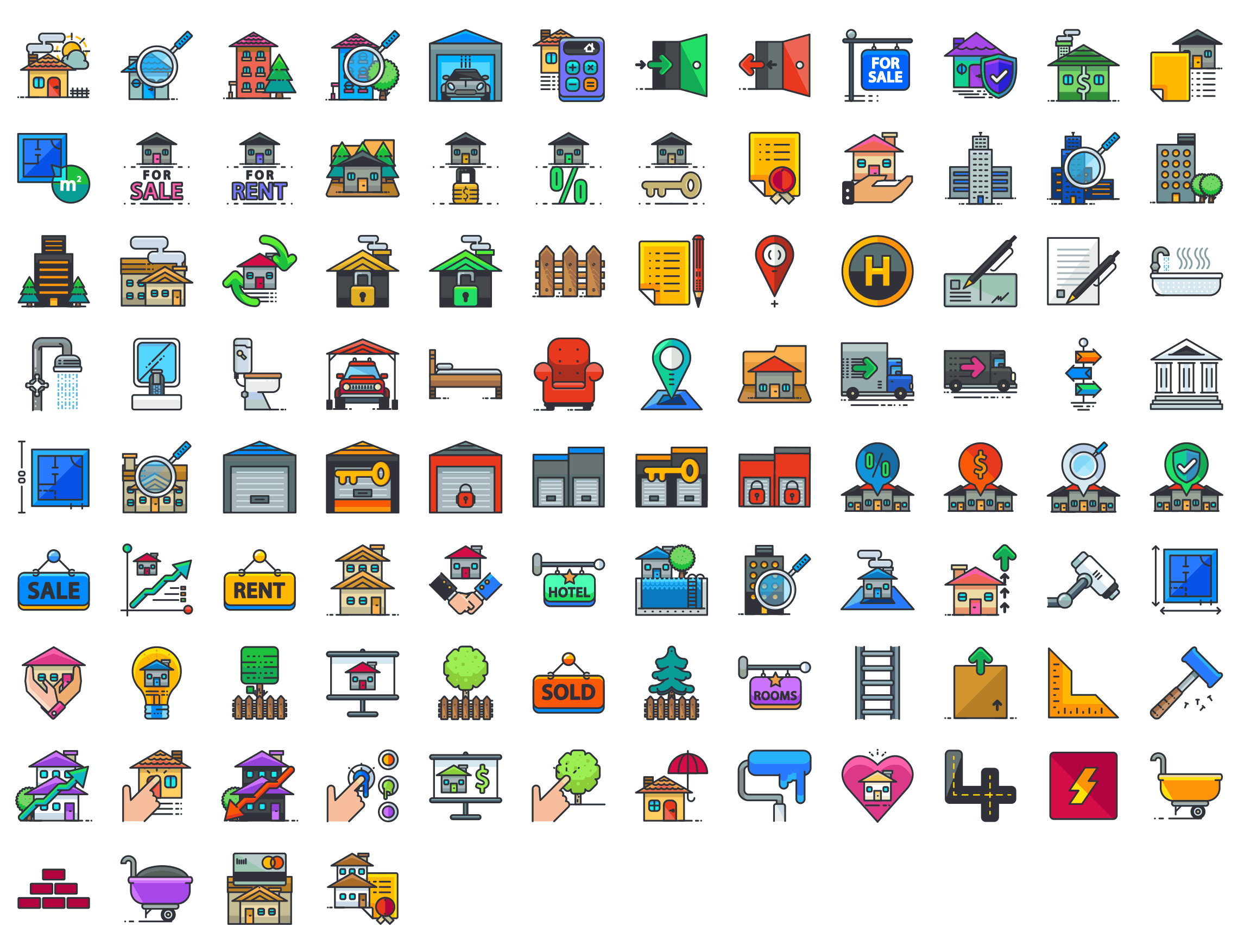 Real-Estate-outline-icons