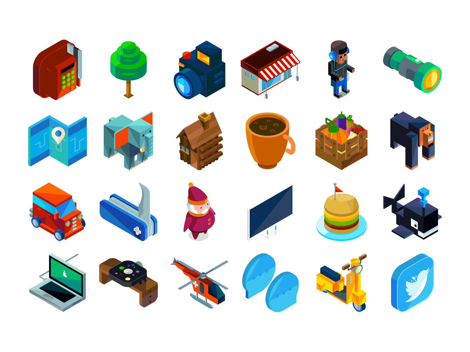 vector isometric icons