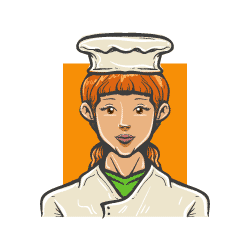 chef hand drawn avatar icon