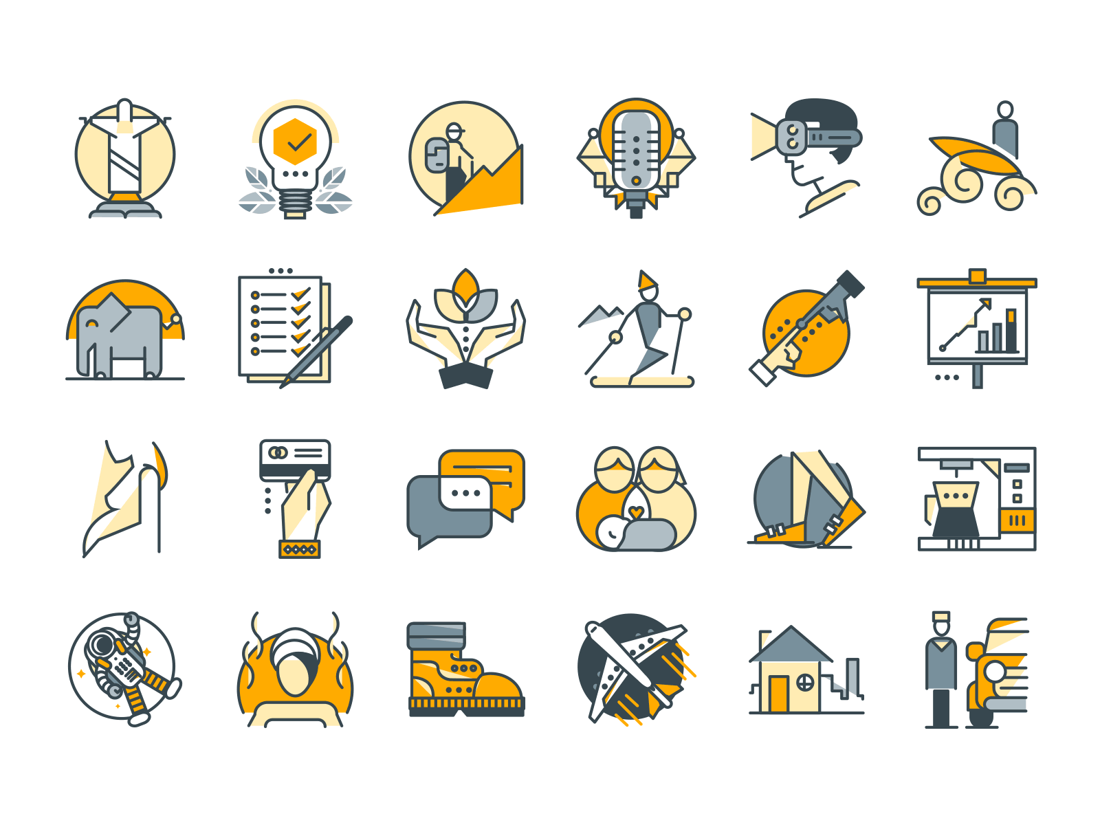 vector Filled outline icons pack