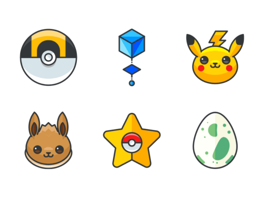 Pokemon Go filled outline icons