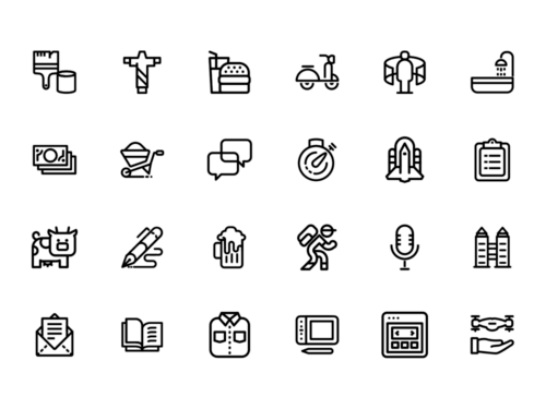 vector line icons pack