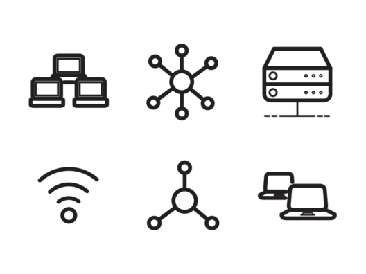 network-and-sharing-line-icons