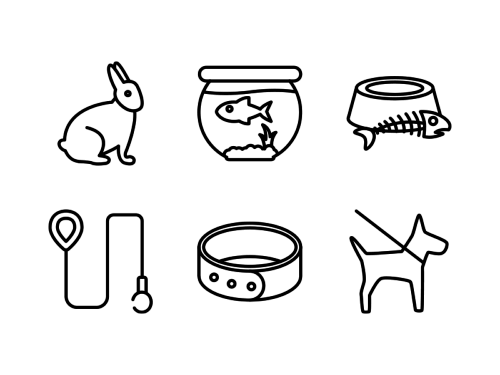 pets-line-icons