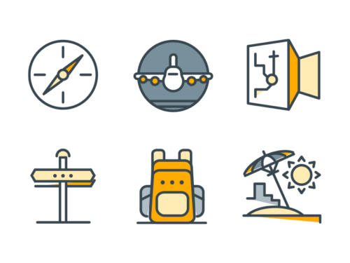 summer filled outline icons