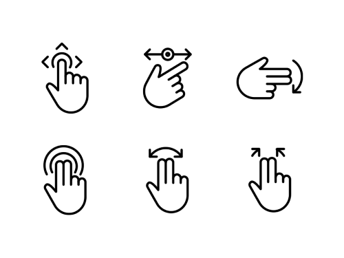 touch-gestures-line-icons