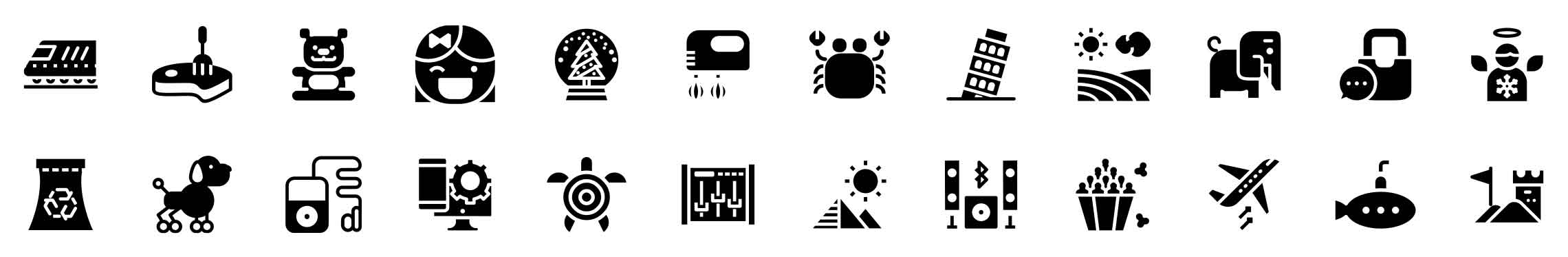 native solid icons pack