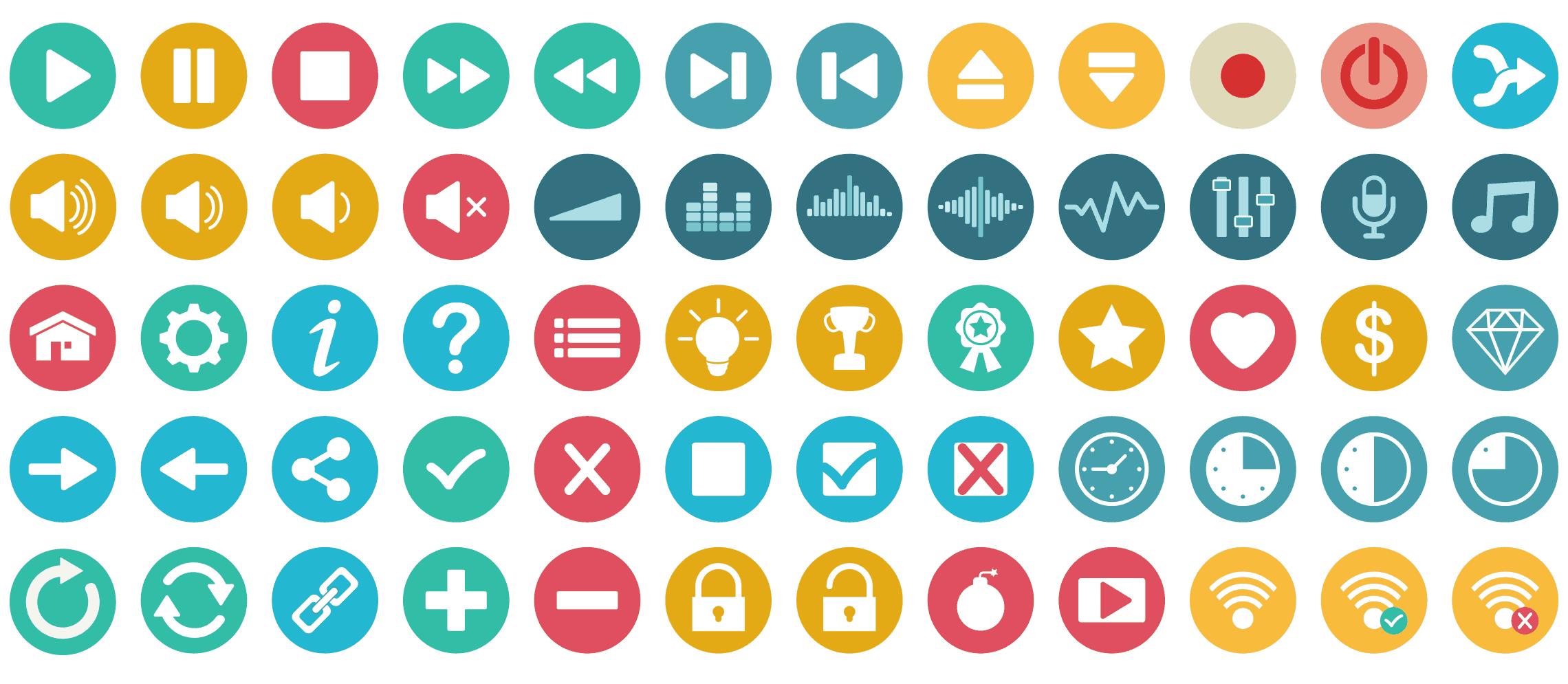 audio-video-game-controls-flat-icons-vol-1-preview