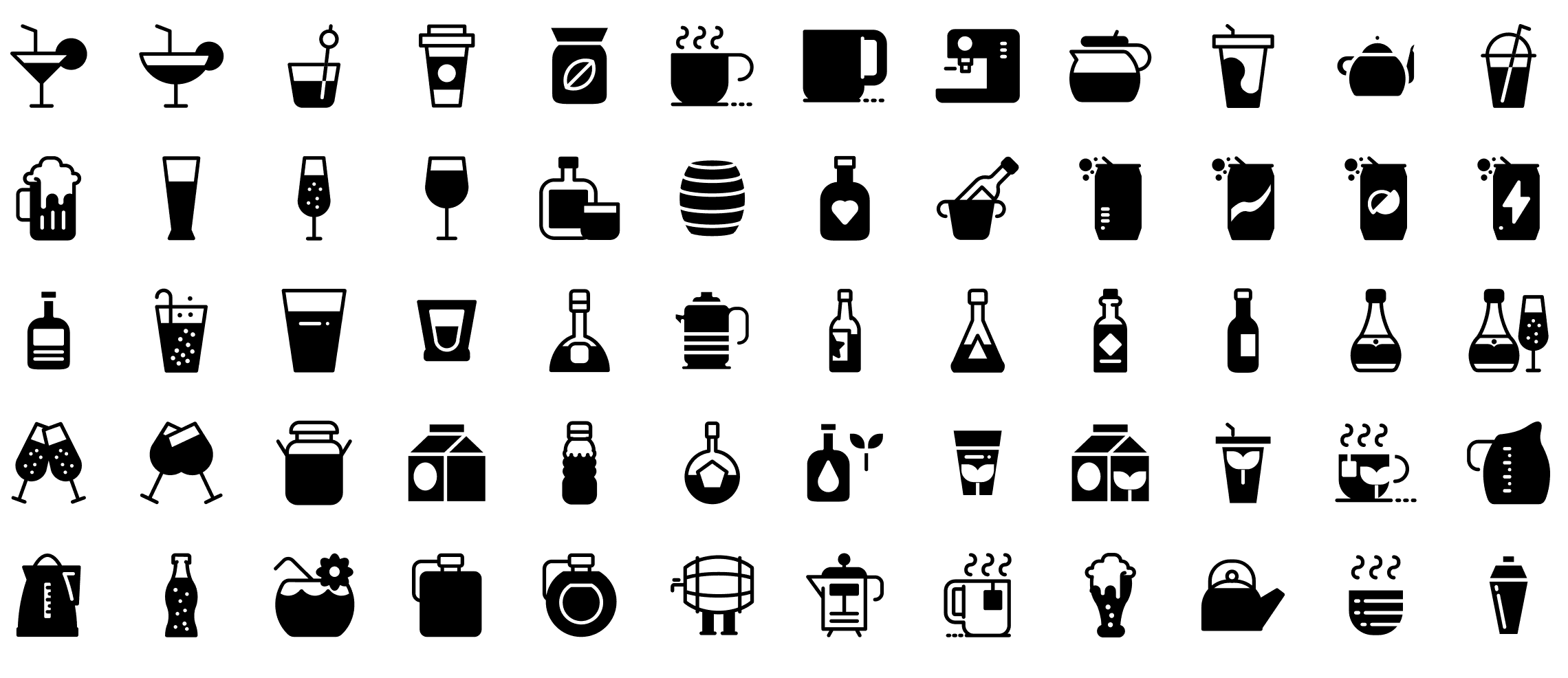drinks-and-beverages-glyph-icons-preview