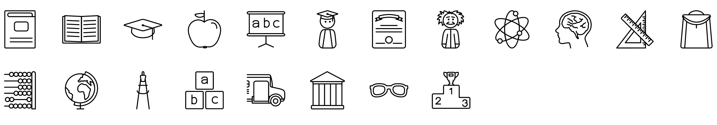 education-line-icons-preview