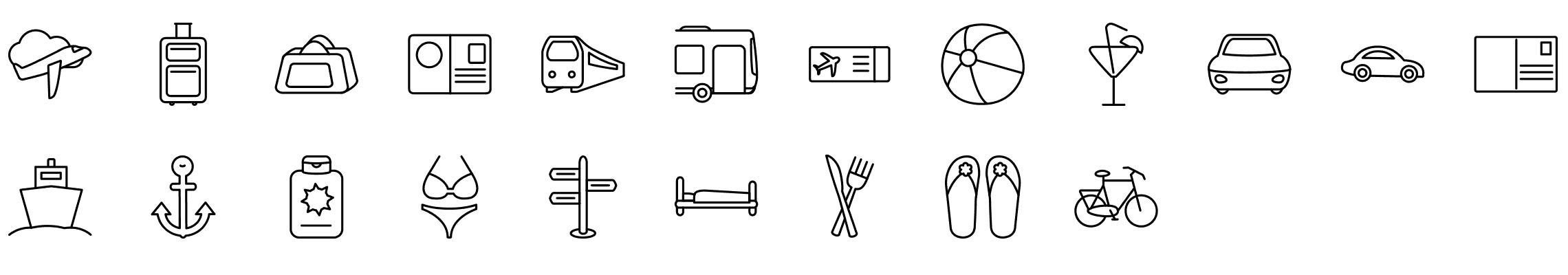 travel-and-transportation-line-icons-preview