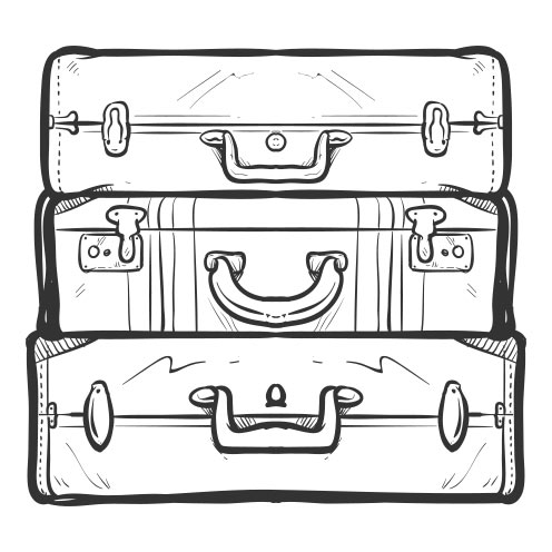 Vector-Illustration-suitcases