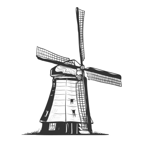 Vector-Illustration-world-monument-windmill