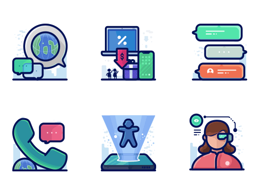 free business icons set