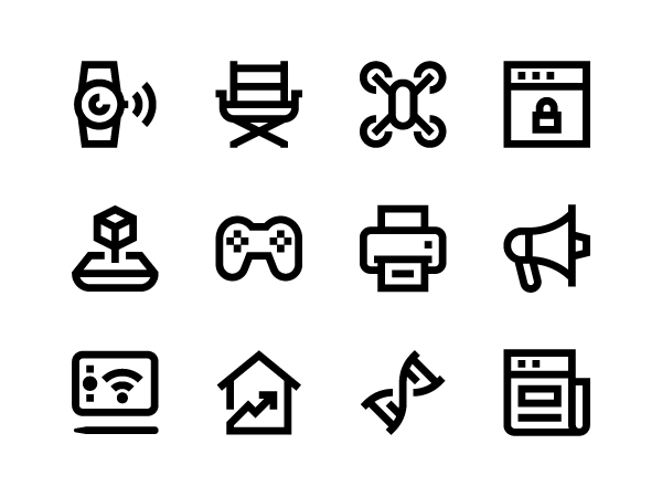 minimal bold icons pack
