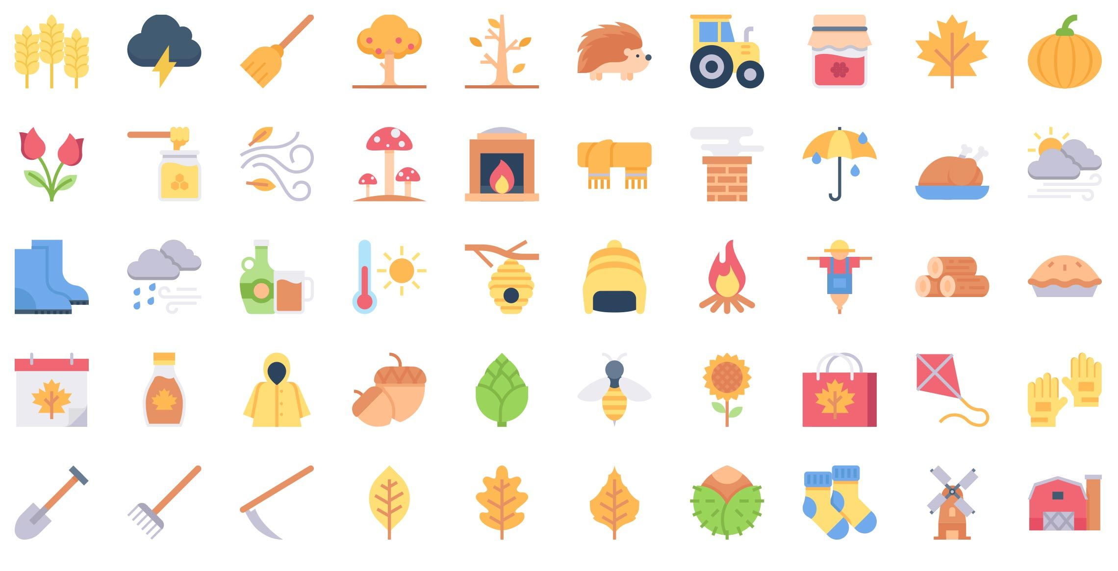 autumn-flat-icons-vol-5-preview